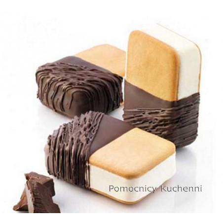 Forma silikonowa do lodowych kanapek. Kształ: prostokąty 7x4,8cm + taca BISC04 mini DOUBLE SILIKOMART PROFESSIONAL