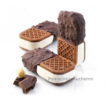 Forma silikonowa do lodowych kanapek. Kształt: różny 8,9x4,5cm + taca BISC05 mini CROCK SILIKOMART PROFESSIONAL