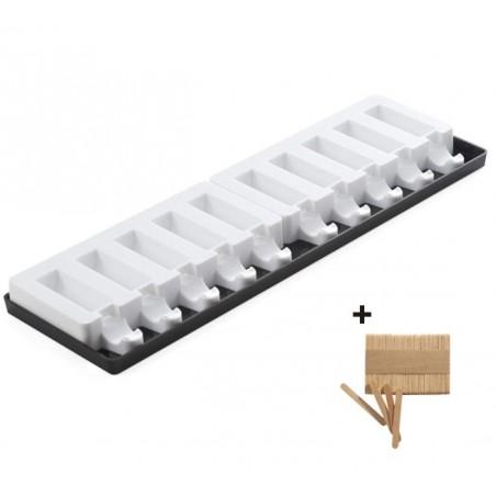 Forma silikonowa MINI PICK półwalec na patyku poj. 22ml + 50 szt. mini patyczków Silikomart Professional