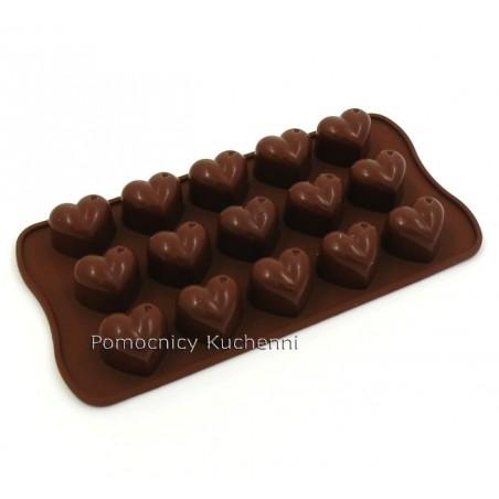 Foremka silikonowa do czekoladek, pralinek SERCA SCG01 SILIKOMART