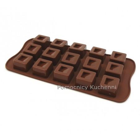 Foremka silikonowa do czekoladek, pralinek KWADRATY - CUBO SCG02