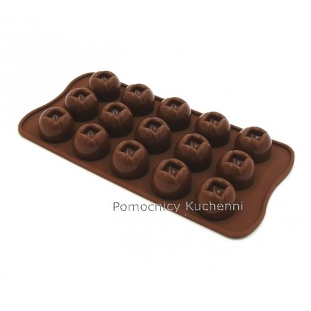 Foremka silikonowa do czekoladek, pralinek PÓŁKULE - IMPERIAL SCG03