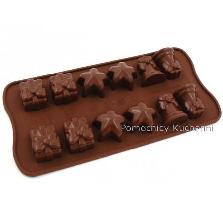 Foremka silikonowa do czekoladek, pralinek ŚWIĘTA - CHRISTMAS SCG06