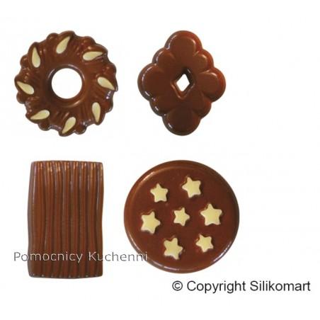 Foremka silikonowa do czekoladek, pralinek - CIASTECZKA SCG25