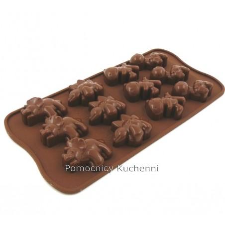 Foremka silikonowa do czekoladek pralinek dinozaury dino SILIKOMART SCG16