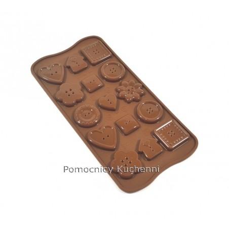 Foremka silikonowa do czekoladek, pralinek - GUZIKI SCG29