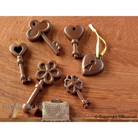Foremka silikonowa do czekoladek, pralinek - KLUCZE SCG33