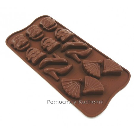 Forma silikonowa do czekoladek, pralinek MODA - FASHION SCG14