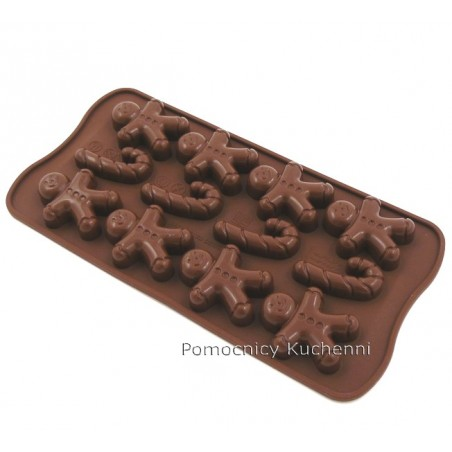 Foremka silikonowa do czekoladek, pralinek PIERNICZEK - GINGER SCG12