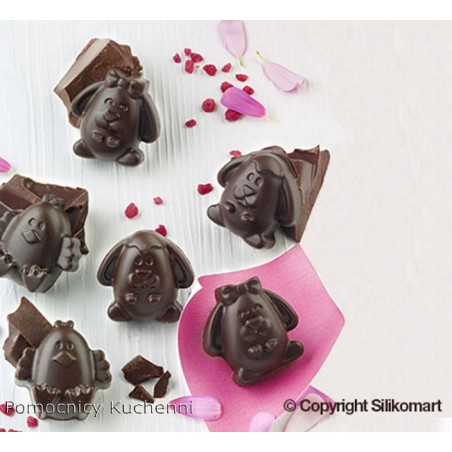 Foremka silikonowa do czekoladek, pralinek - KURCZAKI SCG30
