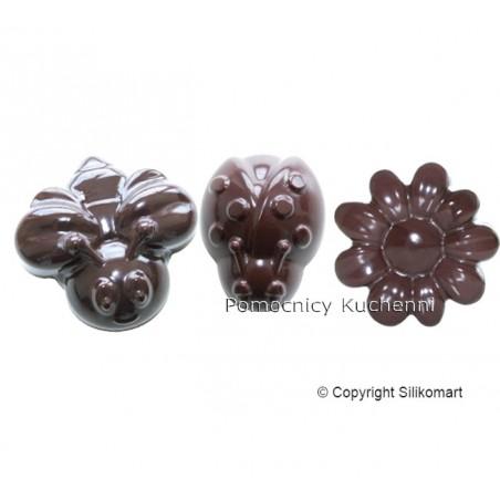 Foremka silikonowa do czekoladek, pralinek - WIOSNA SILIKOMART SCG24