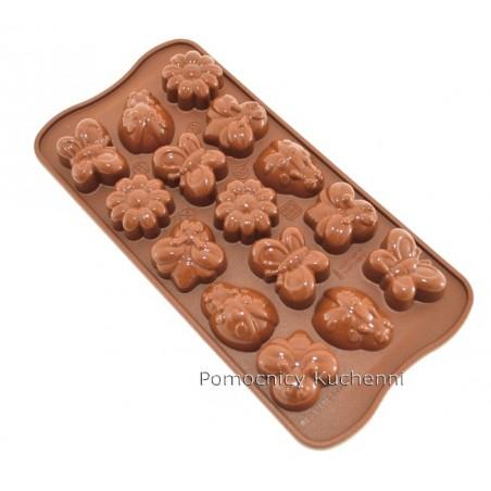 Foremka silikonowa do czekoladek pralinek wiosna SILIKOMART SCG24