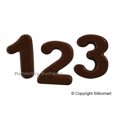 Foremka silikonowa do czekoladek, pralinek CYFRY SF 174 Silikomart Professional