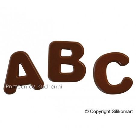 Foremka silikonowa do czekoladek pralinek litery alfabet Silikomart Professional SF169