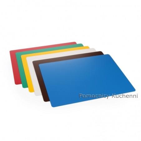 Elastyczne podkładki do krojenia z tworzywa - zestaw 6szt. kolory 30x20cm HACCP HENDI 826331