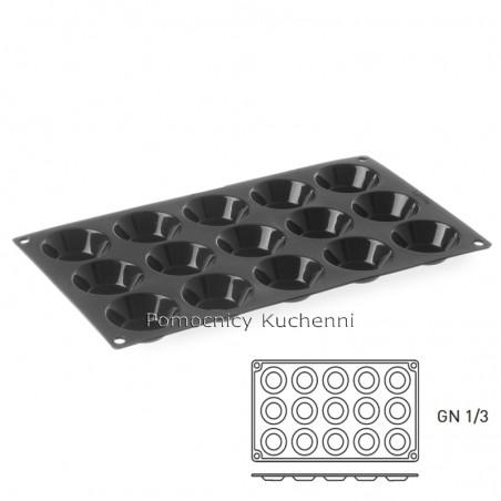 Forma silikonowa TARTALETKI - 15 gniazd o poj. 30 ml HENDI 676509
