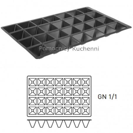 Forma silikonowa PIRAMIDY GN 1/1 28 gniazd HENDI 676370