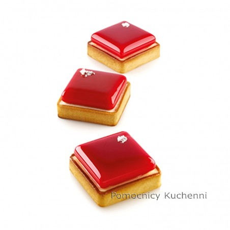 Forma silikonowa 6 rantów kit tarte ring square 62 ml Silikomart Professional