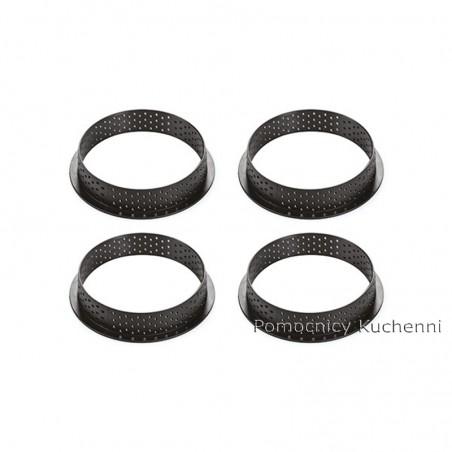 4 ranty kit tarte ring round śr 10 cm Silikomart Professional