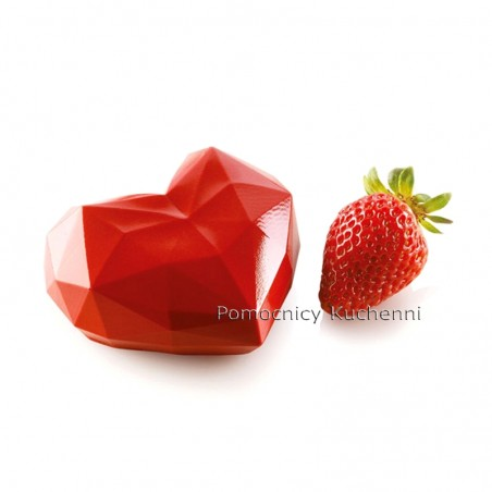 Forma silikonowa serce amore origami poj 110 ml wykrojnik Silikomart Professional