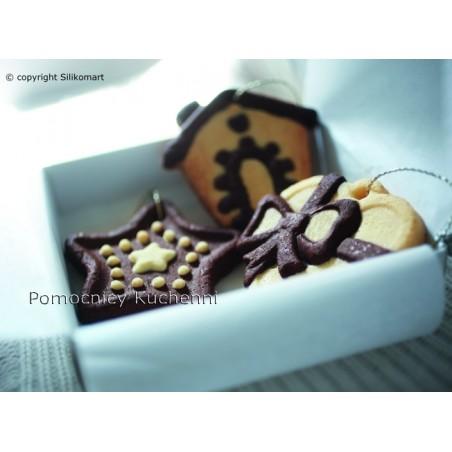 Forma silikonowa do ciastek i pierników Boże Narodzenie Silikomart hsh02 b