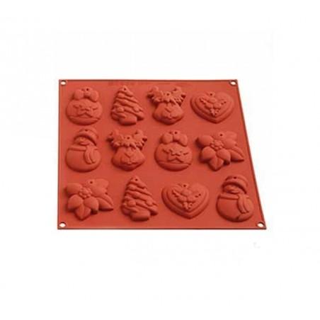 Forma silikonowa do ciastek i pierników Boże Narodzenie SILIKOMART HSH04