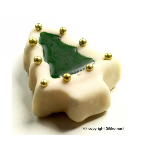 Forma silikonowa CHOINKI - 8 foremek SILIKOMART SF108