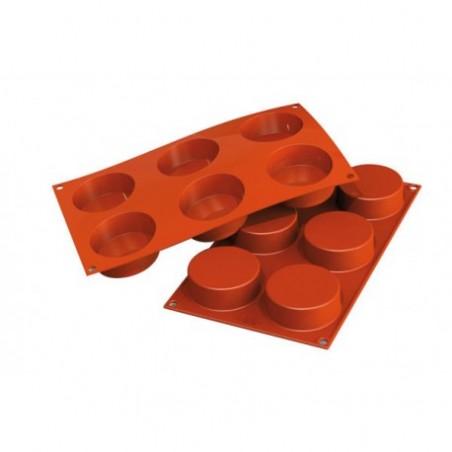 Forma silikonowa na ciasteczka cylindry 8 gniazd o poj 103,5 ml Silikomart SF205