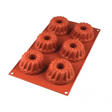 Forma silikonowa na babeczki gugelhupf 6 gniazd o poj. 100 ml Silikomart SF209
