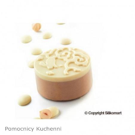 Forma silikonowa mooncake nature śr 68 mm Silikomart