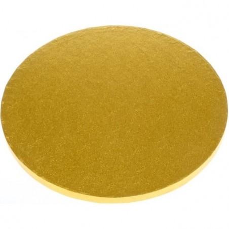Podkład pod tort gruby 1,2 cm złoty śr. 45 cm Silikomart