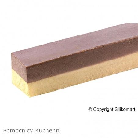Forma silikonowa 40x60 cm tronco prostokąty 500x30 mm h 30 mm 8 gniazd sq017 Silikomart