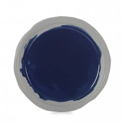 No.W Talerz płaski 25,5 cm niebieski