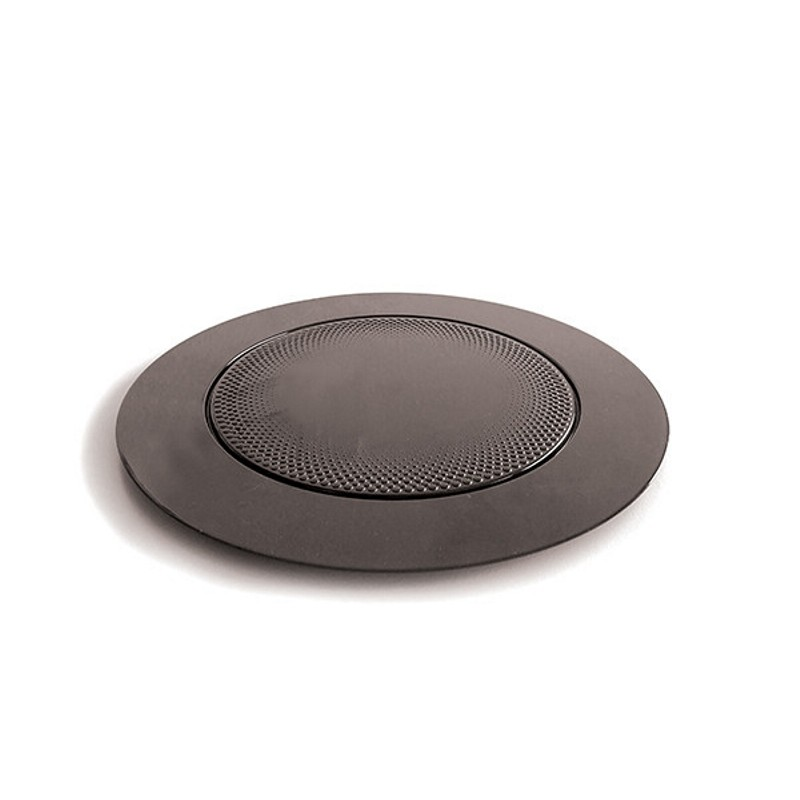Tacka plastikowa do deserów śr. 165 mm czarna okrągła opak. 10 szt. Silikomart