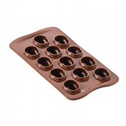 Forma silikonowa do czekoladek czaszki Amleto śr 30 mm Silikomart SCG055
