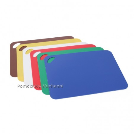 Elastyczne podkładki do krojenia z tworzywa - zestaw 6szt. kolory 30,5x45,5 HACCP HENDI 826324