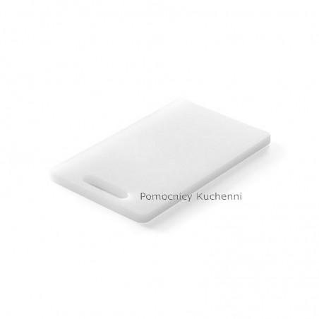 Deska do krojenia 25x15x1 cm biała z uchwytem HENDI 826348