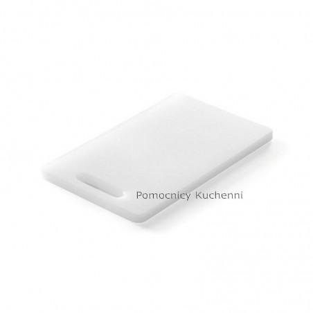 Deska do krojenia 30x20x1 cm z uchwytem biała HENDI 826355