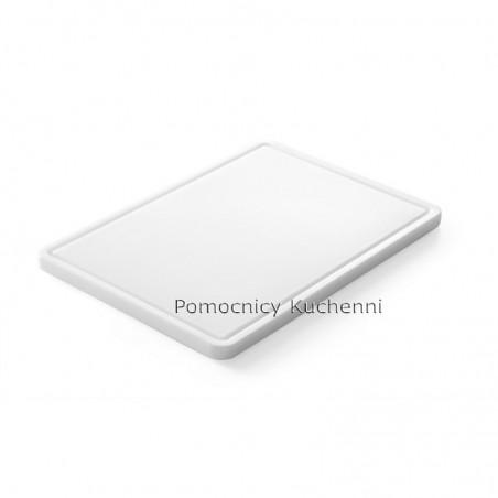 Deska do krojenia 35,5x25x1,5 cm z uchwytem biała HENDI 826362