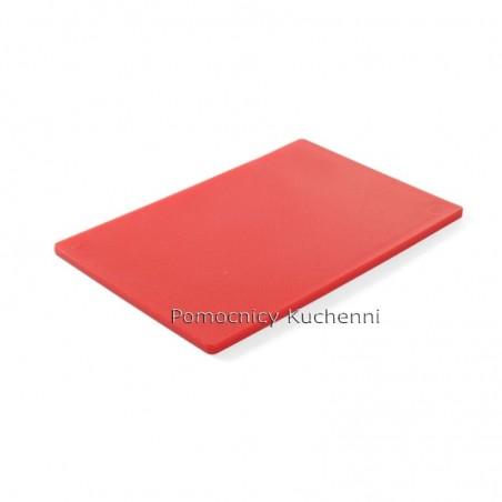 Deska do krojenia 45x30x1,27 cm czerwona HACCP - HENDI 825525