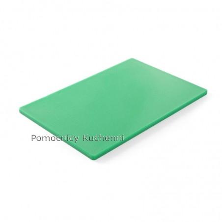 Deska do krojenia 45x30x1,27 cm zielona HACCP - HENDI 825549