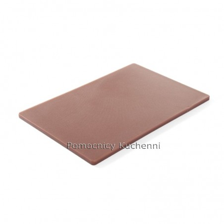 Deska do krojenia 45x30x1,27 cm brązowa HACCP - HENDI 825556
