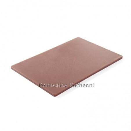 Gruba deska do krojenia brązowa 45x30 h 1,27 cm HACCP - HENDI 825556