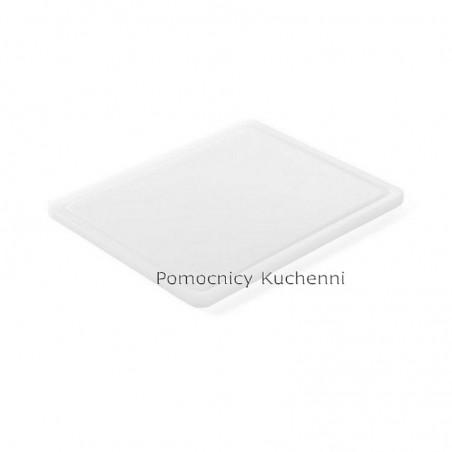 Deska do krojenia 26,5x32,5x1,2 cm biała HACCP GN 1/2 HENDI 826102