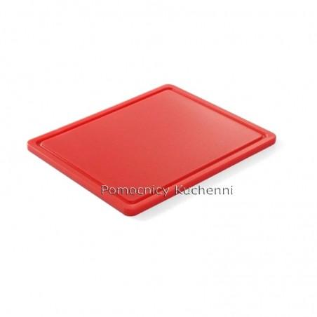 Gruba deska do krojenia czerwona 26,5 x 32,5 h 1,2 cm HACCP GN 1/2 HENDI 826119