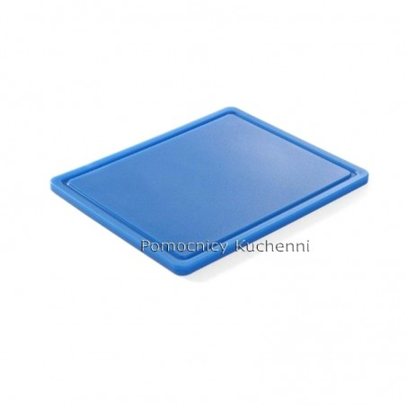 Gruba deska do krojenia niebieska 26,5 x 32,5 h 1,2 cm HACCP GN 1/2 HENDI 826126