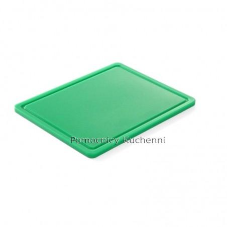Deska do krojenia 26,5x32,5x1,2 cm zielona HACCP GN 1/2 HENDI 826133