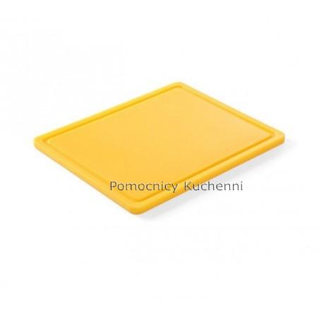 Gruba deska do krojenia żółta 26,5 x 32,5 h 1,2 cm HACCP GN 1/2 HENDI 826157