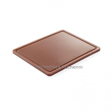Deska do krojenia 26,5x32,5x1,2 cm brązowa HACCP GN 1/2 HENDI 826140