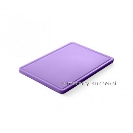 Gruba deska do krojenia fioletowy dla alergików 26,5 x 32,5 h 1,2cm HACCP GN 1/2 HENDI 826164